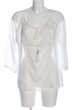 Yessica Transparenz-Bluse weiß Casual-Look