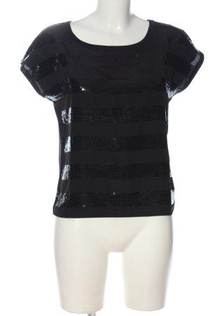Yessica Boatneck Shirt black glittery