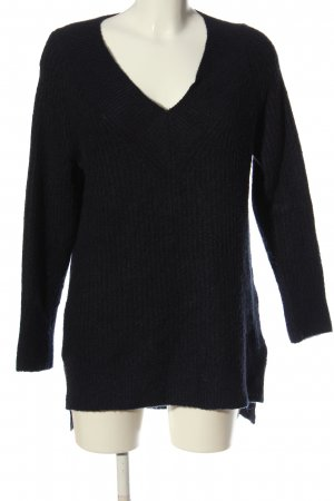 Yessica V-Ausschnitt-Pullover schwarz Casual-Look