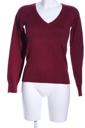 Yessica V-Ausschnitt-Pullover rot Casual-Look