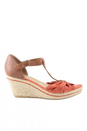 Yessica Wedges Sandaletten rot-braun Casual-Look