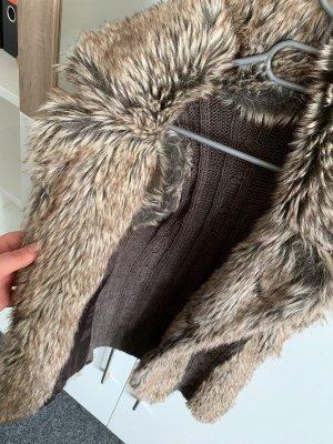 Yessica Fur vest bronze-colored-beige