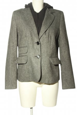 Yessica Blazer de lana gris claro-negro estilo «business»