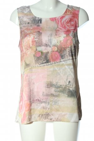 Yest Sleeveless Blouse themed print casual look