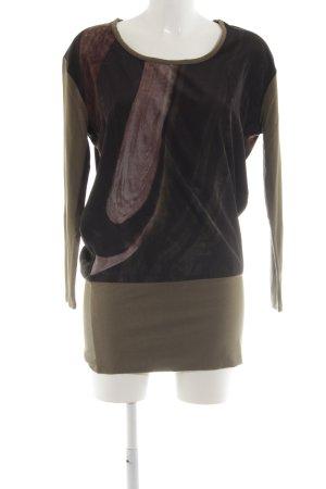 Yest Blusenkleid bronzefarben-braun abstraktes Muster Casual-Look