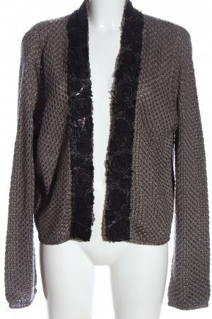 Yest Cardigan light grey cable stitch casual look