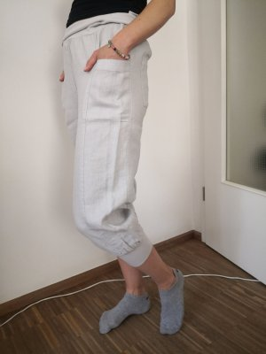 Yest Pantalone a 3/4 grigio chiaro Lino