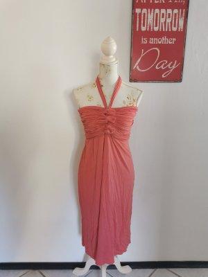 Yest Sukienka z dekoltem typu bandeau jasnoczerwony Wiskoza