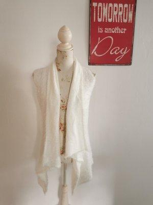 Yest Long Knitted Vest white mixture fibre