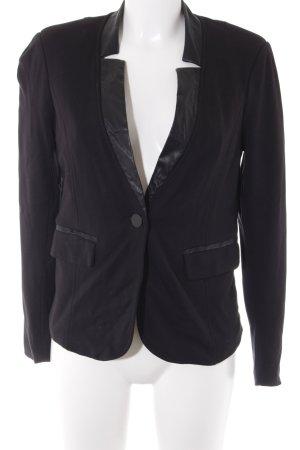 Yest Blazer in jersey nero Inserti in tessuto