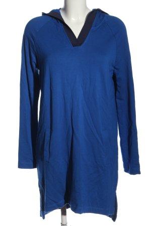 Yest Sukienka z kapturem niebieski W stylu casual