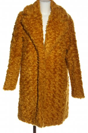 Yest Fake Fur Jacket light orange casual look