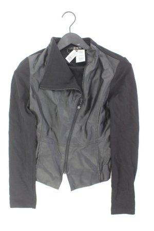 Yest Faux Leather Jacket black viscose