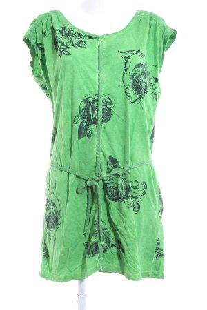 Yest Kurzarmkleid grün Blumenmuster Casual-Look