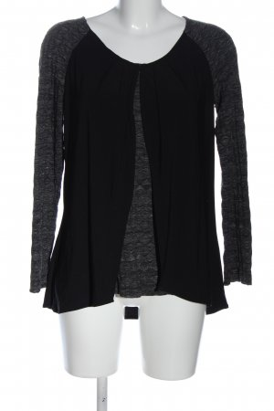 Yest Long Sleeve Blouse black-light grey flecked casual look