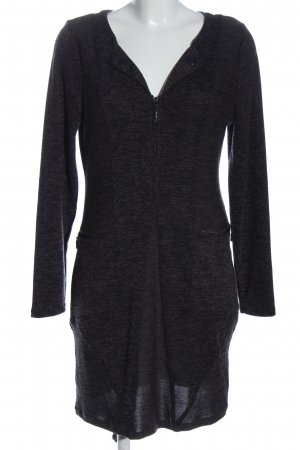 Yest Knitted Dress black flecked casual look