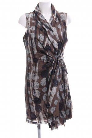Yest Wraparound Blouse bronze-colored-light grey mixed pattern casual look