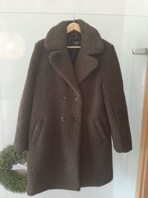 Yest Abrigo de lana verde oscuro