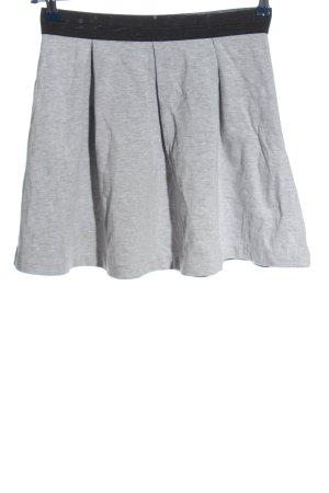 yfl RESERVED Falda acampanada gris claro-negro moteado look casual