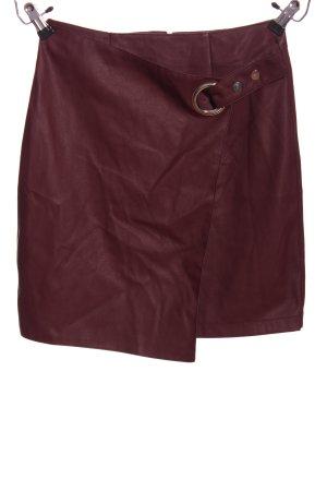 yfl RESERVED Falda de cuero de imitación marrón look casual