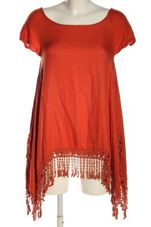 yfl RESERVED Blouse à manches courtes orange clair style décontracté