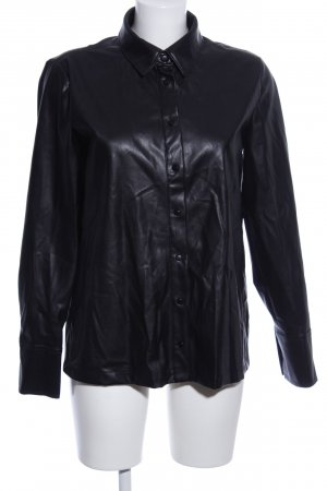 yfl RESERVED Langarm-Bluse schwarz Casual-Look
