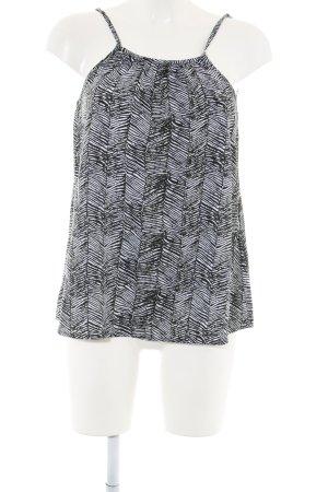 yfl RESERVED Minikleid schwarz-weiß Allover-Druck Casual-Look