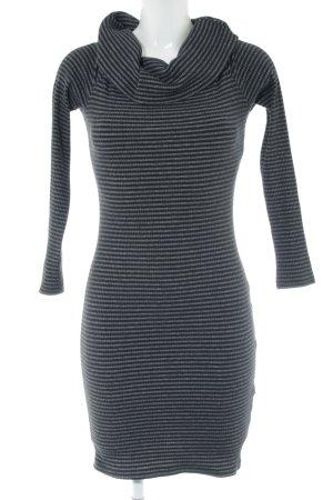 yfl RESERVED Minikleid schwarz-hellgrau Streifenmuster Casual-Look