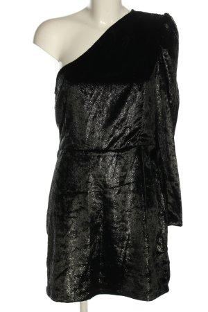 yfl RESERVED Vestido de un hombro negro elegante
