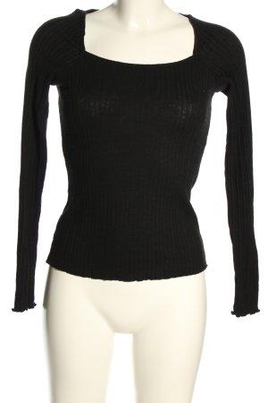 yfl RESERVED Strickshirt schwarz Casual-Look