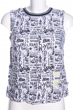 yfl RESERVED Trägertop schwarz-weiß abstraktes Muster Casual-Look