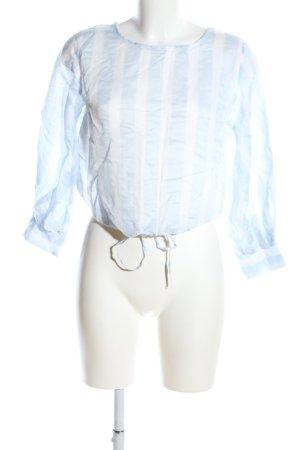 yfl RESERVED Transparenz-Bluse blau-weiß Streifenmuster Casual-Look