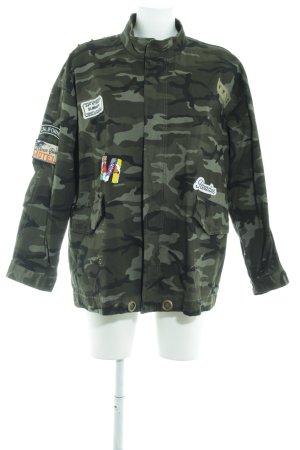yfl RESERVED Übergangsjacke Camouflagemuster Street-Fashion-Look