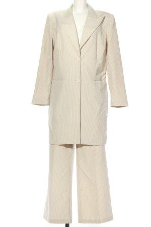 YGCC Tailleur blanc-noir imprimé allover style d'affaires