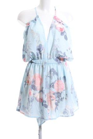 Yidarton Jumpsuit blau-pink Blumenmuster Casual-Look