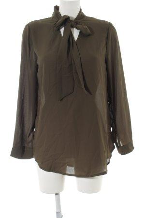 Yidarton Langarm-Bluse braun Business-Look