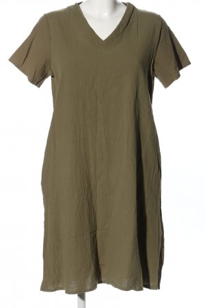 Yidarton T-shirt jurk khaki casual uitstraling