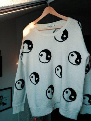 Yin und Yang Pullover Strick