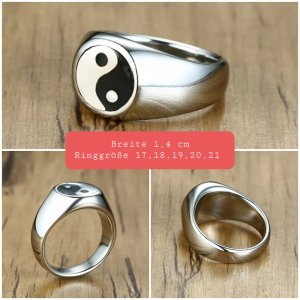 Yin und Yang Ring aus Chirurgenstahl