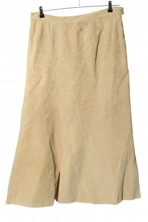 Yippie Leather Skirt cream casual look