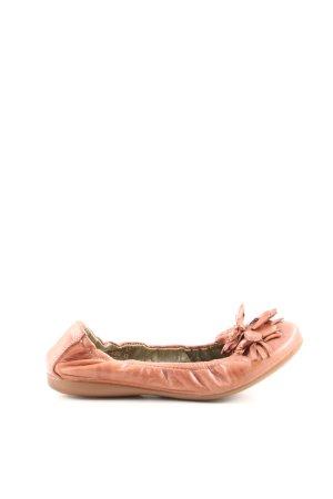 YKX & Co. faltbare Ballerinas hellorange Casual-Look