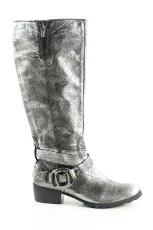 YKX & Co. Buty w stylu western srebrny Ekstrawagancki styl