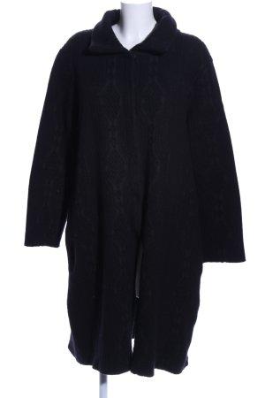 yock Płaszcz z dzianiny czarny Warkoczowy wzór W stylu casual