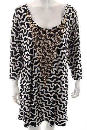 Yoek Kleid weiß-schwarz Casual-Look
