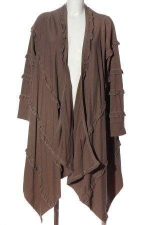 Yoek Giacca-camicia marrone stile casual