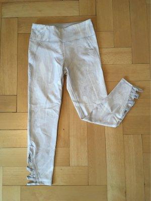 Abercrombie & Fitch Pantalón tobillero gris claro-blanco