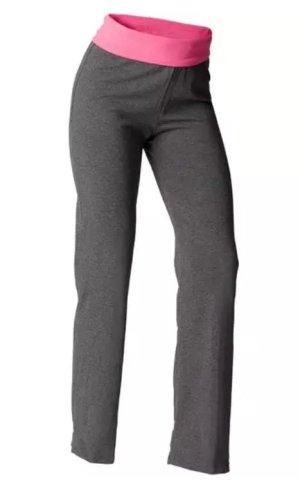 Decathlon Pantalone grigio scuro-rosa