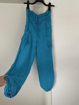 Aus Indien Harem Pants turquoise