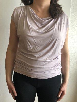 Curare Koszulka z dekoltem woda bladofiołkowy