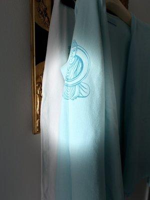 Mandalay Maglietta aderente azzurro-bianco sporco Lycra